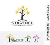 star tree  vector logo template | Shutterstock .eps vector #620581169