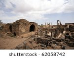 Bosra ancient city - stock photo