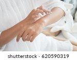 closeup of female hands... | Shutterstock . vector #620590319