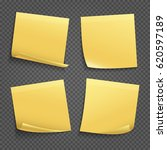 vector yellow sticky notes... | Shutterstock .eps vector #620597189