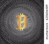 digital background with bitcoin    Shutterstock .eps vector #620606489