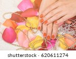 manicure process | Shutterstock . vector #620611274