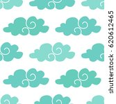 seamless pattern with clouds.... | Shutterstock .eps vector #620612465
