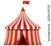 red and white stripes circus... | Shutterstock .eps vector #620614535