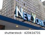 new york retro title | Shutterstock . vector #620616731