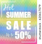 hot summer sale up to 50  ... | Shutterstock .eps vector #620617079