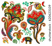 colorful decorative elements.... | Shutterstock .eps vector #620623109