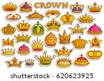 vector illustration of sticker... | Shutterstock .eps vector #620623925