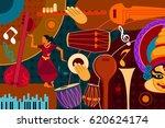 vector illustration of abstract ... | Shutterstock .eps vector #620624174