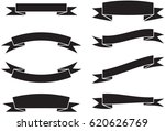 vector ribbons banners set | Shutterstock .eps vector #620626769