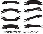 vector ribbons banners set | Shutterstock .eps vector #620626769