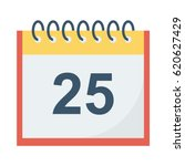 calander flat vector icon | Shutterstock .eps vector #620627429