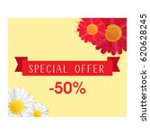 special offer banner with... | Shutterstock .eps vector #620628245