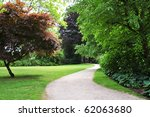 Pathway In A Peaceful Green...