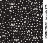 retro geometric line shapes... | Shutterstock .eps vector #620639195