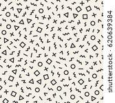 scattered geometric shapes.... | Shutterstock .eps vector #620639384