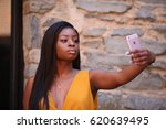 young gorgeous african american ... | Shutterstock . vector #620639495