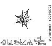 web line icon. spiderweb  web... | Shutterstock .eps vector #620640725
