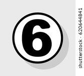 number 6 sign design template... | Shutterstock .eps vector #620644841