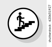 man on stairs going up. vector. ... | Shutterstock .eps vector #620651927