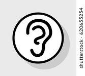 human anatomy. ear sign. vector.... | Shutterstock .eps vector #620655254