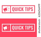 quick tips. badge with... | Shutterstock .eps vector #620656499
