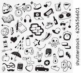 summer time   hipster things  ... | Shutterstock .eps vector #620656601