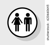 male and female sign. vector.... | Shutterstock .eps vector #620660645