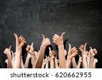 hands showing gestures . mixed... | Shutterstock . vector #620662955