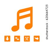 music note icon stock vector... | Shutterstock .eps vector #620664725