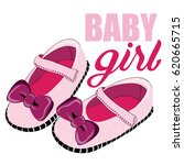 cute pink shoes for newborn... | Shutterstock .eps vector #620665715
