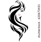 illustration of women long hair ... | Shutterstock .eps vector #620673431