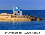 beautiful chapel on the coast... | Shutterstock . vector #620673515