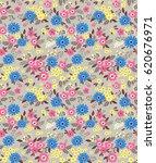 vector seamless pattern. cute...   Shutterstock .eps vector #620676971