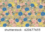 vector seamless pattern. cute... | Shutterstock .eps vector #620677655