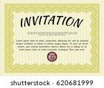 yellow invitation template.... | Shutterstock .eps vector #620681999