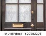 broken window on a front door... | Shutterstock . vector #620683205