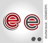 letter e logo   Shutterstock .eps vector #620683391