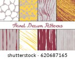 set chaotic textures in red ... | Shutterstock .eps vector #620687165