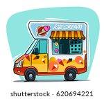 ice cream van cartoon...   Shutterstock .eps vector #620694221