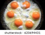 fried eggs fried eggs from 6... | Shutterstock . vector #620694431