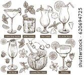 vector sketch illustration  set ... | Shutterstock .eps vector #620694725