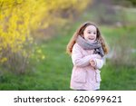 portrait of a child  a girl in... | Shutterstock . vector #620699621