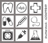 set of medical icons for... | Shutterstock .eps vector #620699849