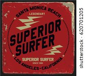 vintage surfing graphics and... | Shutterstock .eps vector #620701205