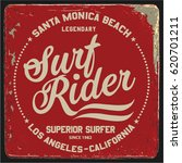 vintage surfing graphics and... | Shutterstock .eps vector #620701211