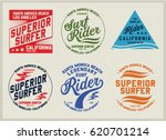 vintage surfing graphics and... | Shutterstock .eps vector #620701214