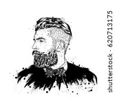 stylish man with a beard. man... | Shutterstock .eps vector #620713175