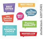 set of retail tags. colorful... | Shutterstock .eps vector #620715401