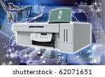 digital illustration of printer ... | Shutterstock . vector #62071651